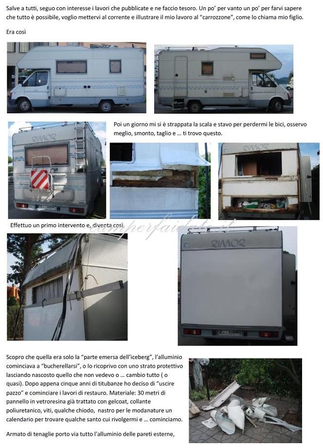 Fogli vetroresina camper profilati alluminio for Monoscocca in vetroresina