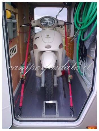 Scooter nel garage for Planimetrie del garage rv