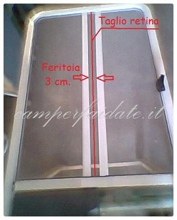Modifica zanzariera porta cellula laika kreos - Zanzariera porta finestra fai da te ...